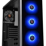 Thermaltake V200 Tempered Glass RGB Edition 12V MB Sync Capable ATX Mid-Tower Chassis with 3 120mm 12V RGB Fan + 1 Black…