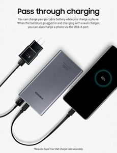 Samsung-10000-mAh-Super-Fast-25W-Portable-Charger-Battery-Pack-USB-C-Silver-US-Version-with-Warranty