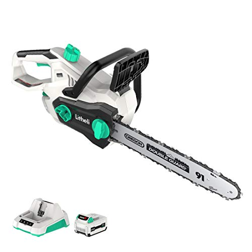 Litheli-40V-Cordless-Chainsaw-14-inches-With-Brushless-Motor-25AH-Battery-and-Charger