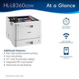 Brother-Business-Color-Laser-Printer-HL-L8360CDW-Wireless-Networking-Automatic-Duplex-Printing-Mobile-Printing-Cloud-printing-Amazon-Dash-Replenishment-Ready