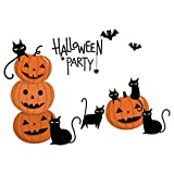 XQXCL Halloween Wall Stickers, Home Decoration Wall Supplies Removable Window Decoration Novelty DIY Decal Decor