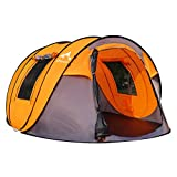 Oileus Pop up Tents Camping 4 to 6 Person Tent Sky-Window(45'x 25') Instant Camping Tent 14 Reinforced Steel Stakes & Carrying 114'L 78'W 51'H
