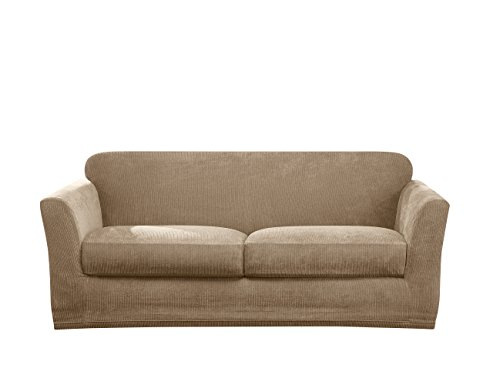 Sure Fit Ultimate Stretch Chenille Loveseat Slipcover - Tan