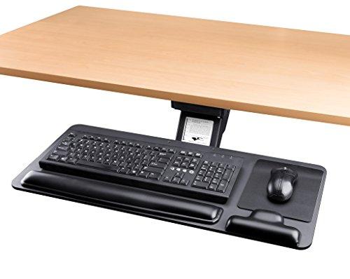Adjustable Keyboard Tray Ergonomic Design Standard Under Desk Platform Large Space Track Cartmay
