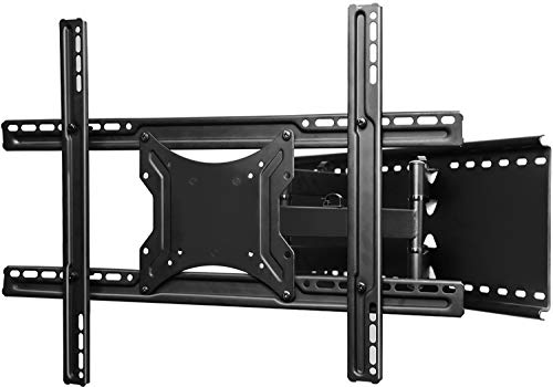 "TV Wall Mount Bracket Full Motion- Fits 16"", 24"" Wood Studs Articulating Swivel TV Mount for 37-70 Inch LED, LCD, OLED, Flat Screen, Plasma TVs - Weight up to 132lbs - VESA 600x400mm PERLESMITH"