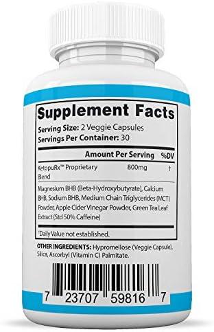 Pure Keto Fit Pills Advanced BHB Ketogenic Supplement Exogenous Ketones Ketosis for Men Women 60 Capsules 3 Bottles 5
