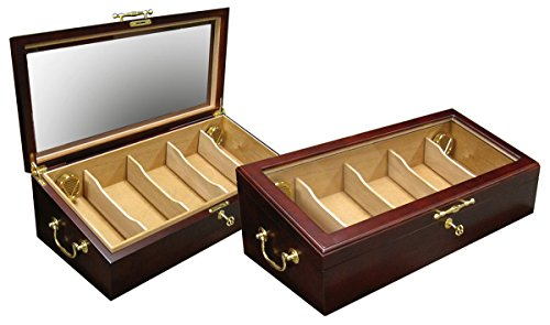 The Modena Countertop Cigar Display Humidor - Color: Cherry