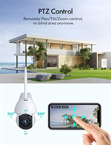 Security Camera Outdoor, Voger 360° View WiFi Home Security Camera System 1080P with IP66 Weatherproof Motion Detection Night Vision 2-Way Audio Cloud Camera Works with Alexa and Google Home 14