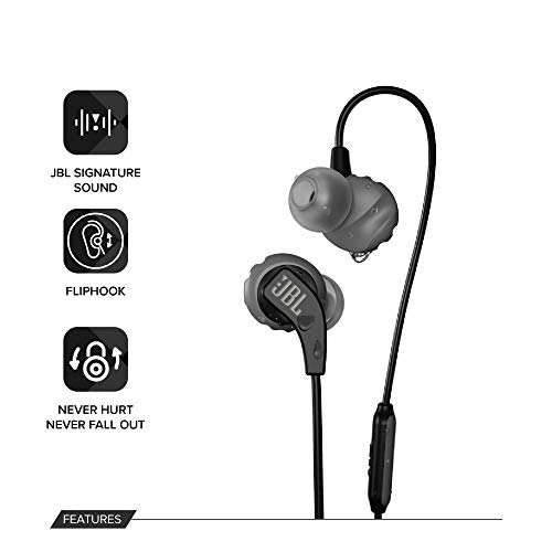 41jQUbyJwUL JBL Endurance Run Sweat-Proof Sports in-Ear Headphones with One-Button Remote and Microphone (Black)