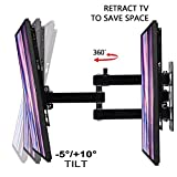 Aeromount Tilt LCD-252 TV Wall Mount, Max VESA 200mm x 200mm, TV Bracket - Adjustable Telescoping and Rotating Flat Screen TV for Most 17inch - 37inch LED, LCD, OLED, Plasma Flat Screen Televisions