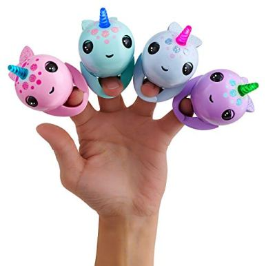 WowWee-Fingerlings-Light-Up-Narwhal-Nikki-Turquoise-Friendly-Interactive-Toy