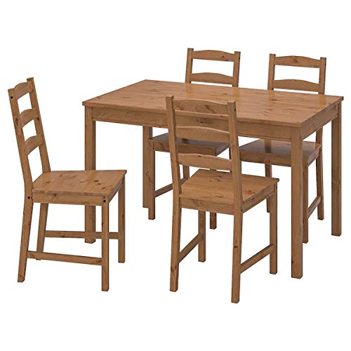 Ikea Table And 4 Chairs Set Solid Pine Wood Dining Kitchen Amazon In Electronics