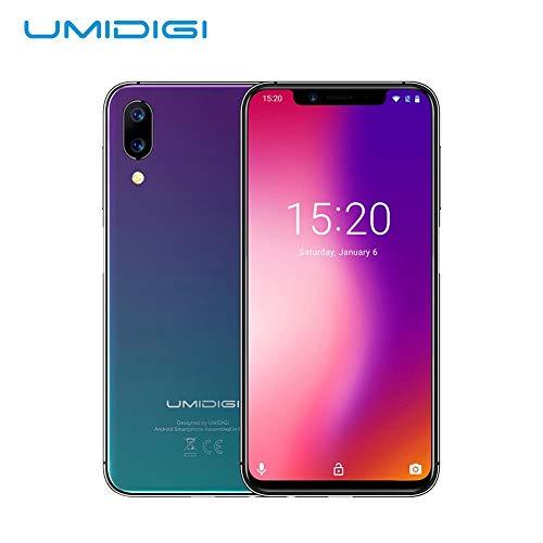 UMIDIGI ONE Fingerprint Face Unlocked Smartphone,Unlocked Cell Phones 4GB+32GB Smart Phone 5.9in Full-Surface Mobile Phone Global Edition Cell Phone 12MP + 5 Million Dual 4G Smartphone/Twilight