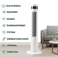 Antarctic-Star-36-Inch-Tower-Fan-Oscillating-Fan-Quiet-Cooling-Remote-Control-Powerful-Standing-3-Speeds-Wind-Modes-Bladeless-Floor-Fans-Portable-Bladeless-Fan-Bedroom-White