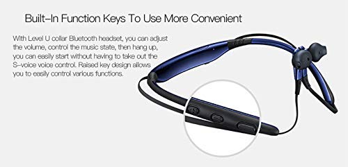41jXsqbKhhL Syl Plus Lvl U Bluetooth Wireless Earphones 4.1 with Mic in-Ear Stereo Sport Neckband Headsets with Back Button for All Andriod & iOS Smart-Phone (Blue) (Blue)