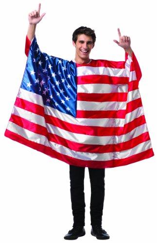 Rasta Imposta Men's Flag Tunic- USA, Red/White/Blue, One Size