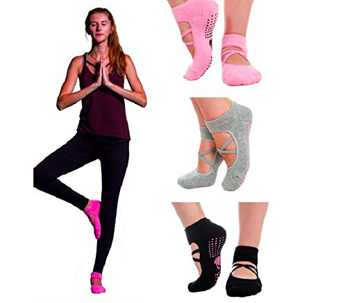 LUCKAYA 3 Pairs Yoga Pilates Barre...