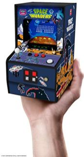 My-Arcade-Micro-Player-Mini-Arcade-Machine-Space-Invaders-Video-Game-Fully-Playable-Collectible-Color-Display-Speaker-Volume-Buttons-Headphone-Jack-Battery-or-Micro-USB-Powered