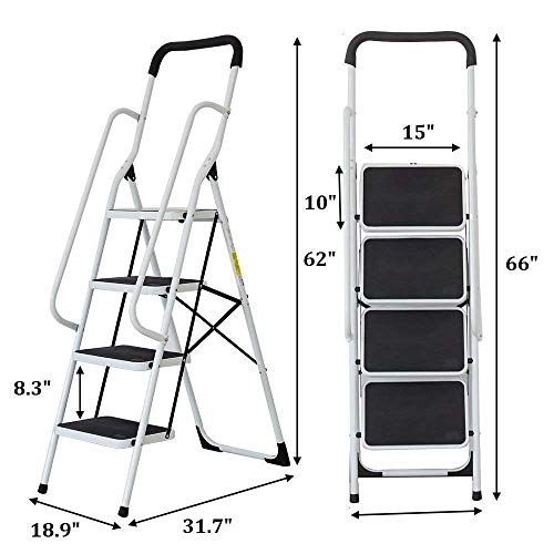 Incredible Top 5 Best Folding Ladders Reviews In 2019 Greathomedepot Machost Co Dining Chair Design Ideas Machostcouk