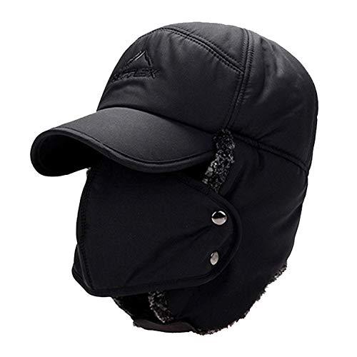 Trooper Trapper Hat Men's Winter Windproof Warm Mask Earflaps Outdoor Sports Walking Skiing Hunting Aviator Hat