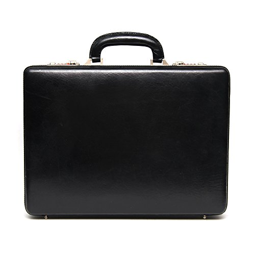 Comfort 17 inch Pure Leather Briefcases Come Office Bag, EL88 (Black)