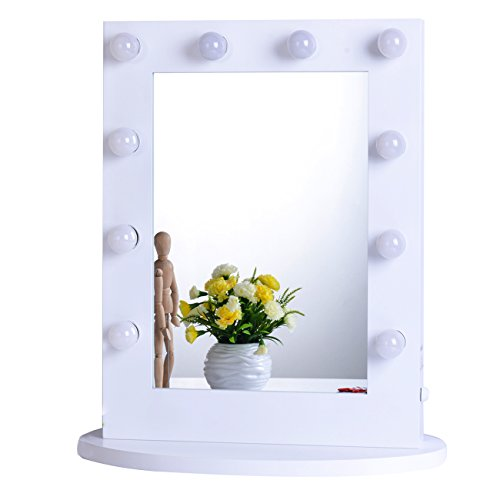Chende Hollywood Makeup Vanity Mirror with Lights Bedroom Lighted Standing Mirror with...