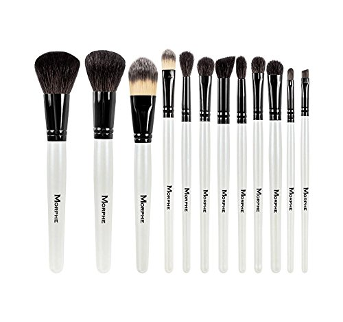 Morphe Set 706-12 Piece Black And White Travel Set