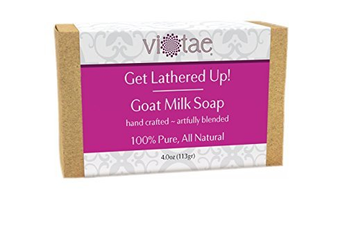 Vi-Tae 100% Natural and Organic Handmade 'Get Lathered Up' 4oz Soap Bars (Goat Milk)