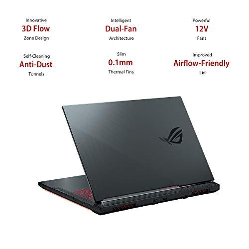 "ASUS ROG Strix G G731GT-H7158T 17.3"" FHD 120Hz Gaming Laptop GTX 1650 4GB Graphics (Core i7-9750H 9th Gen/16GB RAM/1TB NVMe SSD/Windows 10/One-Zone RGB KB/2.85 Kg), Black 8"