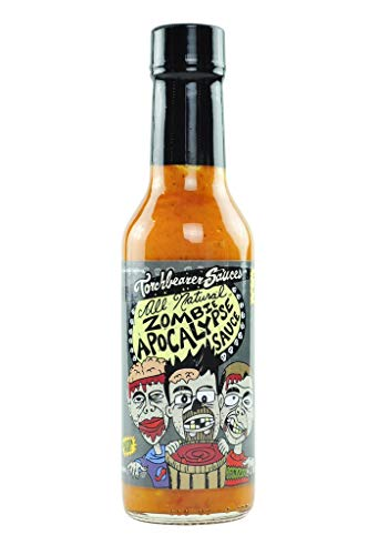 Zombie Apocalypse Ghost Chili Hot Sauce, 5 ounces - All Natural, Vegan, Extract-Free, Made in USA, Featured on Hot Ones!