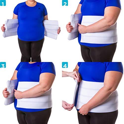 BraceAbility 4XL Plus Size Bariatric Abdominal Stomach Binder | Obesity Girdle Belt for Big Men & Women with a Large Belly, Post Surgery Tummy & Waist Compression Wrap 9
