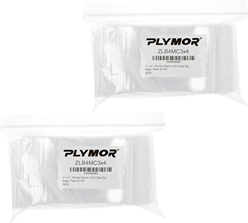 """Plymor three"""" x four"""", four Mil (Pack of 200) Heavy Obligation Plastic Reclosable Zipper Baggage deal 50% off 41jxgdxqKKL"""