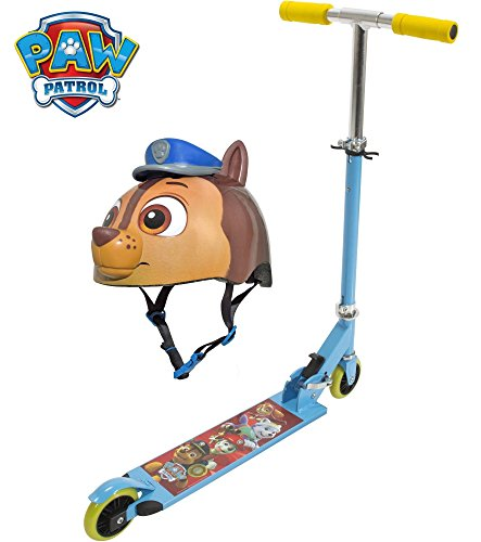2 Piece Paw Patrol Folding Kick Scooter