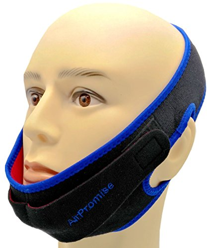 Snoring Reduction Solution Chin Strap | Jaw Support for Better Sleep | Double Black