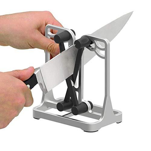 Knife Sharpener - Upgrade Made of Full Metal Bracket - Sharpens & Hones & Polishes Beveled Blades, Standard Blades, Chef's Knives - Safe & Easy to Use Kitchen Tools by Ehoyal