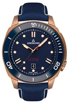 Anonimo nautilo Mens Analog Automatic Watch with Leather Bracelet AM100207005A07
