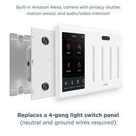Brilliant-Smart-Home-Control-4-Switch-Panel--Alexa-Built-In-Compatible-with-Ring-Sonos-Hue-KasaTP-Link-Wemo-SmartThings-Apple-HomeKit--In-Wall-Touchscreen-Control-for-Lights-Music-More