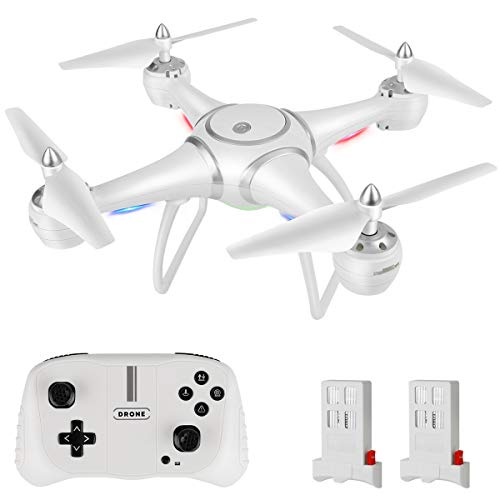 RC Drone Quadcopter, HALOFUNO Remote Control Toys Drones Helicopter with Altitude Hold Mode One Key Take Off/Landing 3D Flips Headless Mode for Adults Boys Girls-White ...
