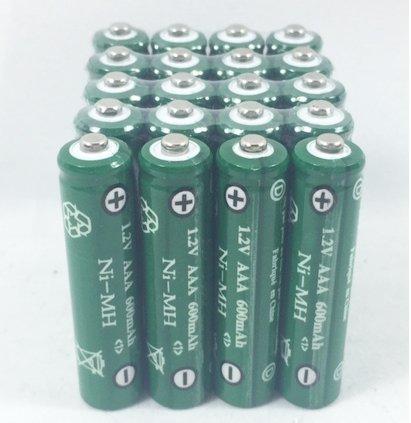 Solar Light AAA Ni-Mh 600 mAh Rechargable Batteries H (Pack of 20)