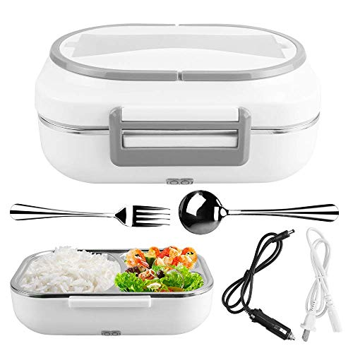 Electric Lunch Box Food Heater Portable Lunch Heater with Removable Container Food Grade Meal Warmer Lunch Box for Home Office Travel Use 110V and 12V