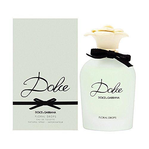 DOLCE GABBANA Floral Drops Eau de Toilette Spray for Women, 2.5 Fluid Ounce
