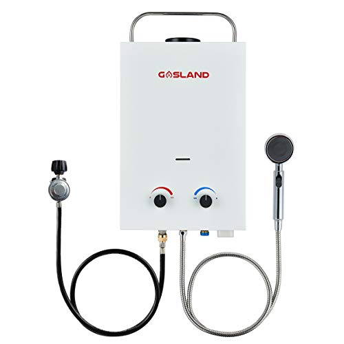 Tankless Water Heater, Gasland BS158 1.58GPM 6L Outdoor Portable Gas Water...