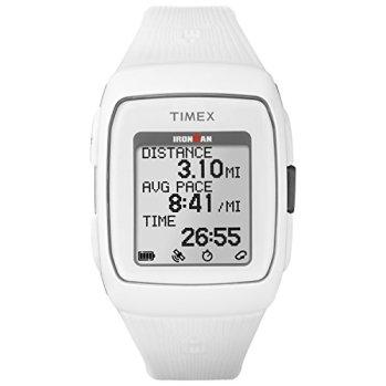 Timex Unisex TW5M11900 Ironman GPS White Silicone Strap Watch
