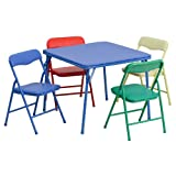 Flash Furniture Kids Colorful 5 Piece Folding Table and Chair Set - JB-9-KID-GG