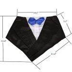 NACOCO-Wedding-Tuxedo-Large-Dog-Bandana-Scarf-Adjustable-Cat-Collar-Neckerchief-Pet-Dress-up-Clothes-for-Wedding-Party-or-Halloween