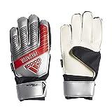 adidas Juniors Predator Top Training Finger Save Soccer Goalkeeper Gloves , Silver Metallic/Black  , 7
