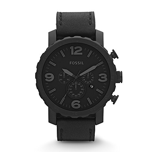 41kWkK4CH7L Industrial-look watch with floating lugs, gear-edge bezel, and dark round dial with dimensional indices and subdials 50-mm stainless steel case with mineral dial window Analog quartz movement with analog display