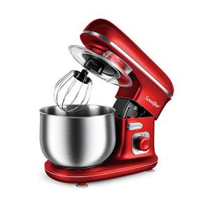 Kitchen Food Stand Mixer 1100W 5L Stainless Steel Bowl 6-Speed Cream Egg Whisk Blender Cake Dough Bread Mixer Maker Machine Sonifer (red) 41kXHUwy 2BNL