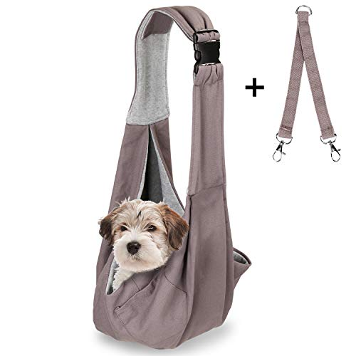 OWNPETS Pet Sling Carrier, Pet Sling Carrier Bag Safe, Comfortable, Reversible,Adustable, Fit Small & Medium Pets, Perfect for Outdoor Activities 1