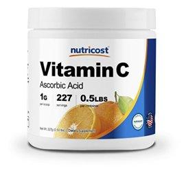 Nutricost Pure Ascorbic Acid Powder (Vitamin C); 1000mg Per Serving – Highest Quality – Immune System Support